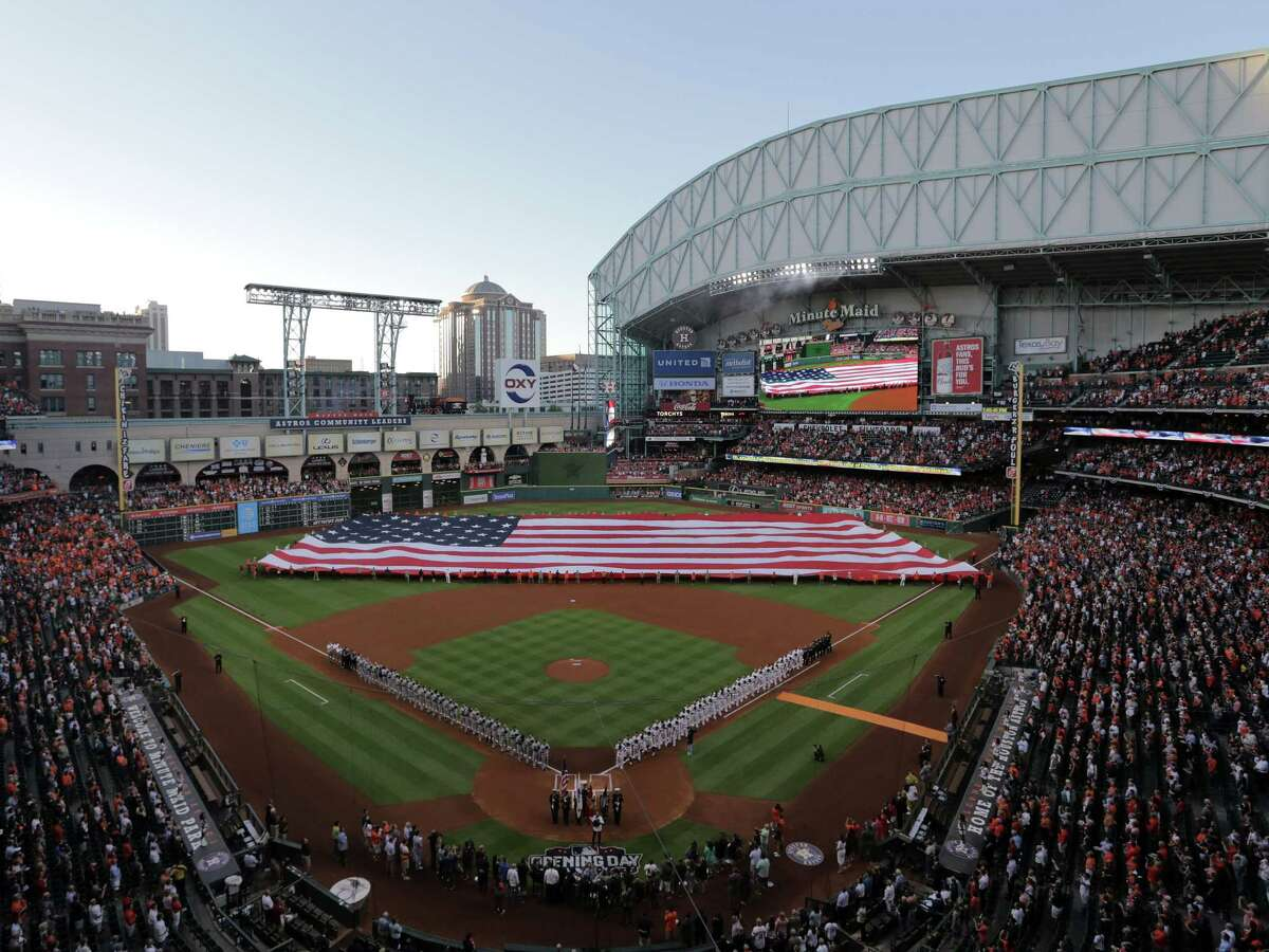 """Opening in 2000, Minute Maid Park is the oldest of the three sports venues the Harris County Houston Sports Authority helped build. Authority board chairman J. Kenneth Friedman says Minute Maid, Toyota Center and NRG Stadium should """"last a long time if they're taken care of."""""""
