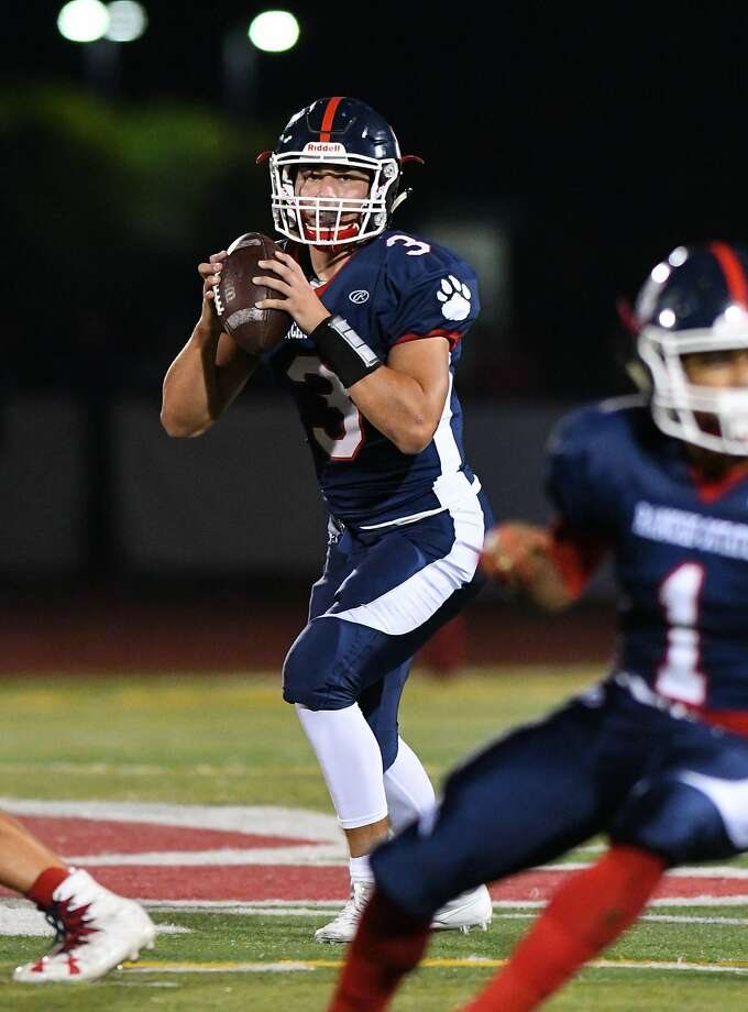 Rancho Cotate quarterback Jake Simmons has thrown for more than 1,000 yards and 11 TDs for the unbeaten Cougars. Photo: Greg Jungferman, MaxPreps