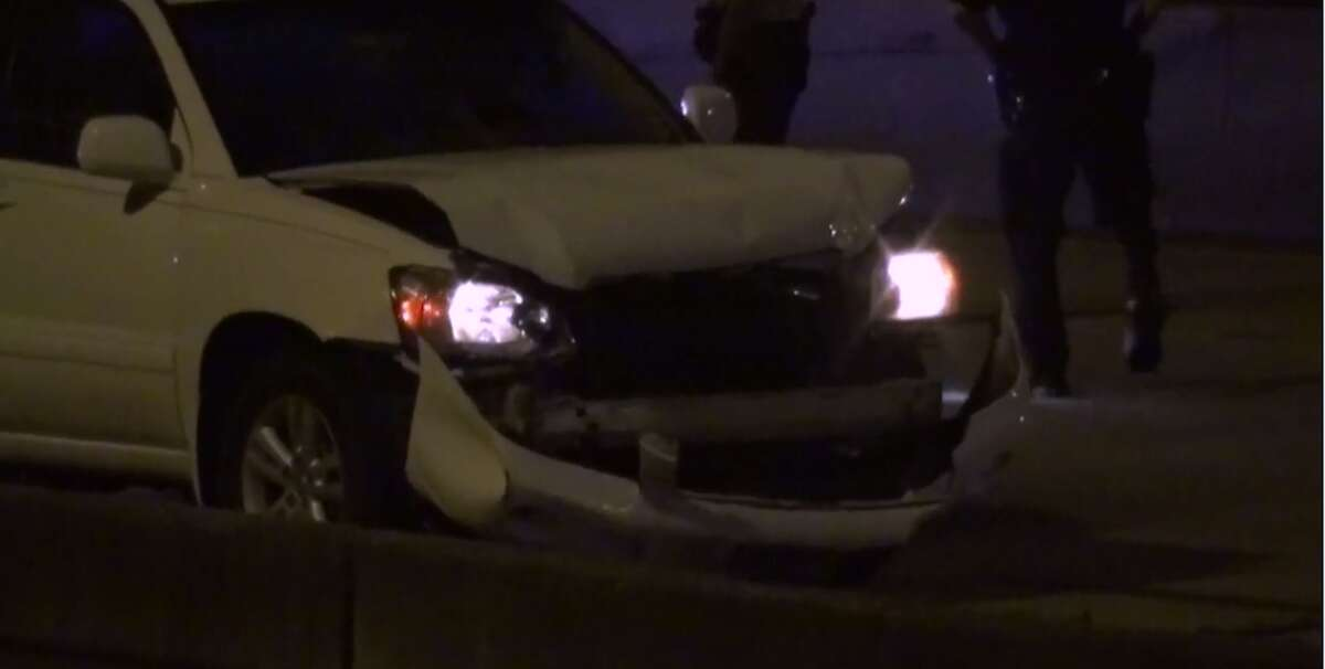 A man is dead after falling early Tuesday from the Loop 610 overpass onto the Southwest Freeway and being hit by at least three vehicles. (Metro Video)