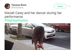 """A number of Twitter users blasted Mariah Carey's performance at the VH1 """"Hip Hop Honors,"""" calling it lazy and bland. Carey's supporters did come to her defense."""