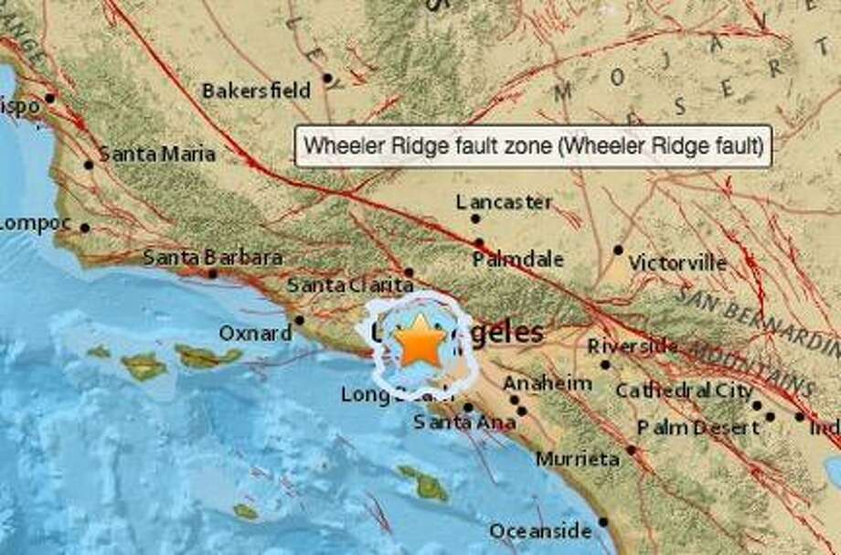 The United States Geological Survey recorded a 3.6 magnitude earthquake near Los Angeles Monday night.