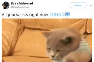 """""""All journalists right now #UNGA""""  Source:  Twitter"""
