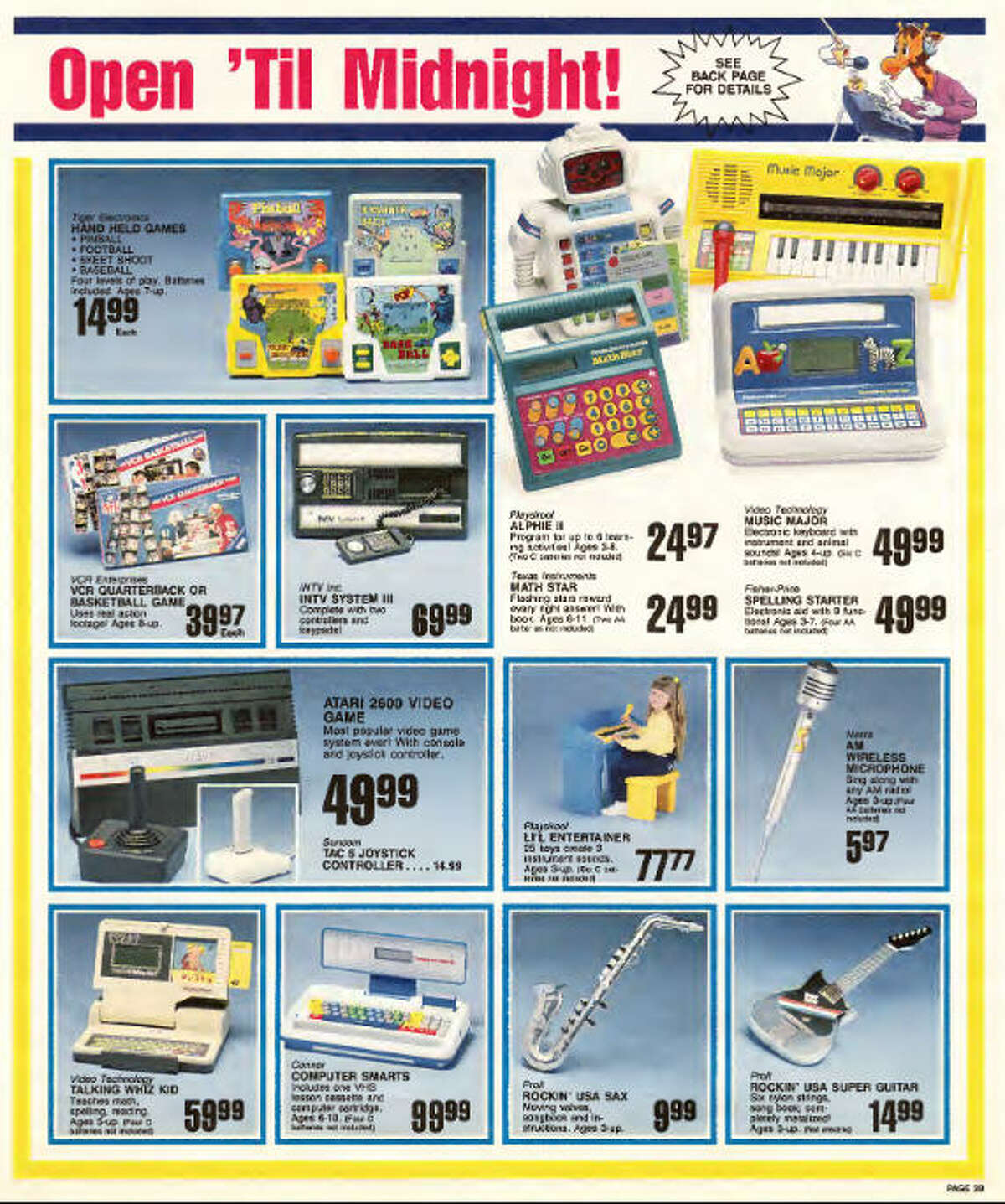 A user on the website Archive.org has scanned in a 1987 Toys 'R' Us circular from the holiday season that year, filled with toys that would make millennials swoon for their long-gone childhoods.