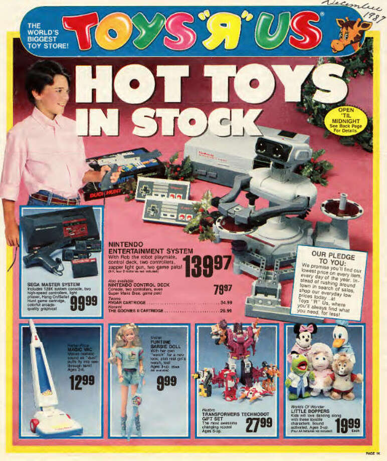 A user on the website Archive.org has scanned in a 1987 Toys 'R' Us circular from the holiday season that year, filled with toys that would make millennials swoon for their long-gone childhoods. Photo: Archive.org