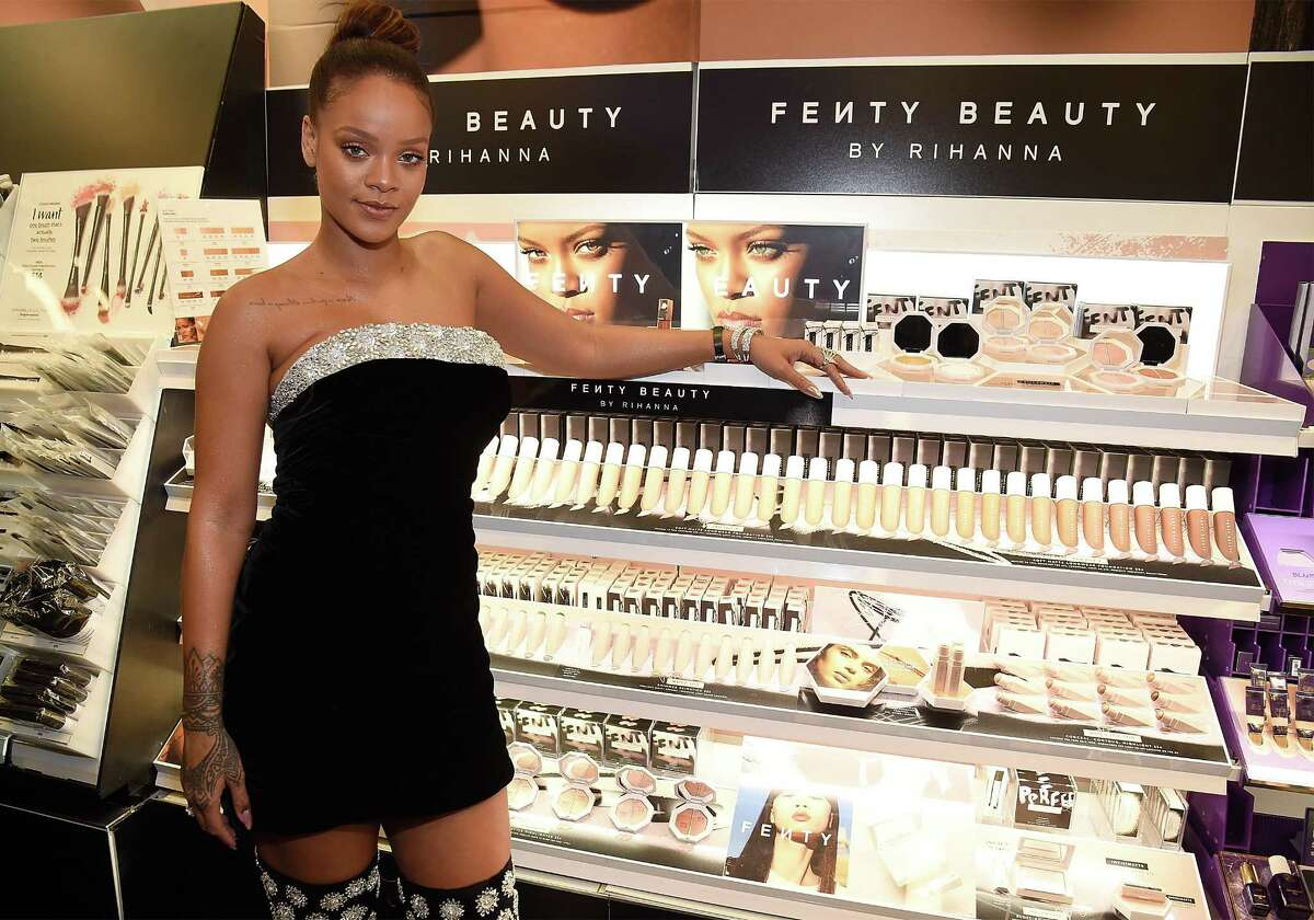 Rihanna launches Fenty Beauty at Sephora Times Square earlier this month.