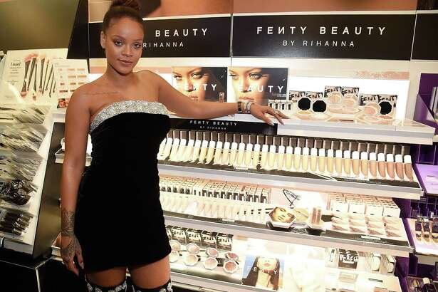 NEW YORK, NY - SEPTEMBER 07: Rihanna launches Fenty Beauty at Sephora Times Square on September 7, 2017 in New York, New York.