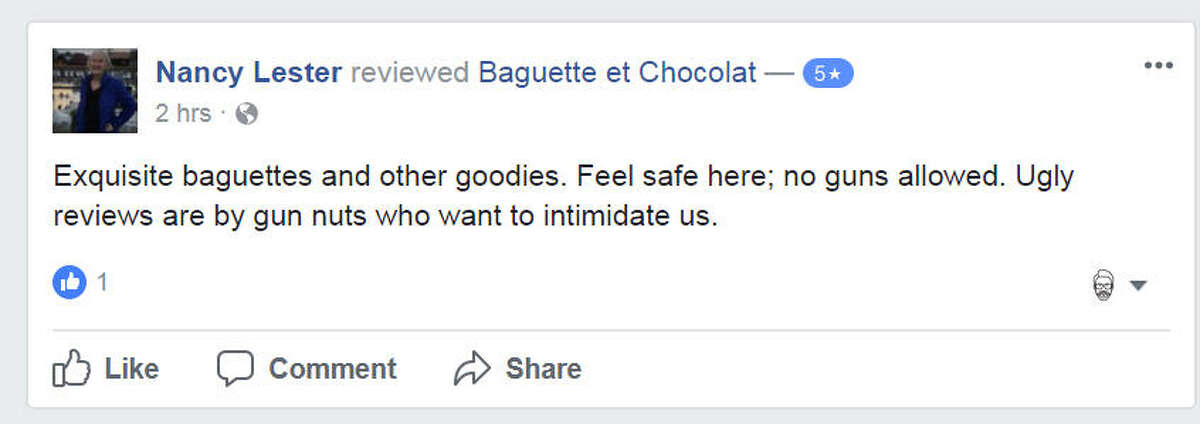 Customers of Austin's Baguette et Chocolat are coming to the bakery's defense after they had a patron who violated its gun policy escorted off the premises.