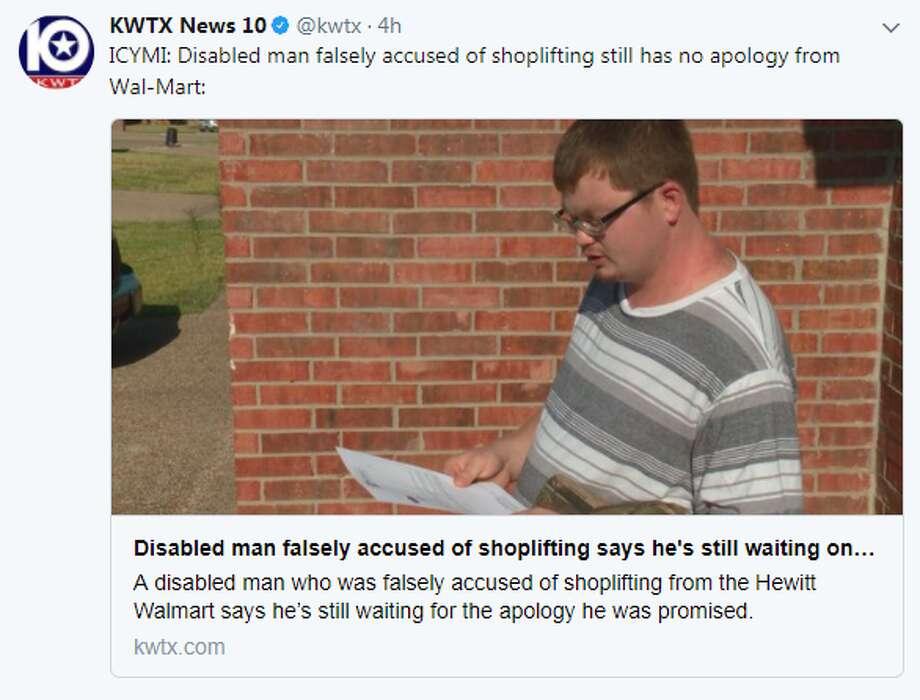 Texas man waits on Walmart apology for false shoplifting