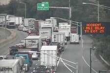 A tractor-trailer accident involving multiple vehicles in Fairfield is causing big northbound delays on I-95 on Tuesday, Sept. 19, 2017.