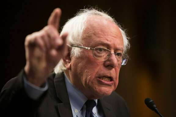 Sen. Bernie Sanders (I-Vt.) holds a news conference regarding health care policy, on Capitol Hill in Washington, Sept. 13, 2017. The former presidential candidate will be in San Francisco on Friday to address a convention of California nurses.