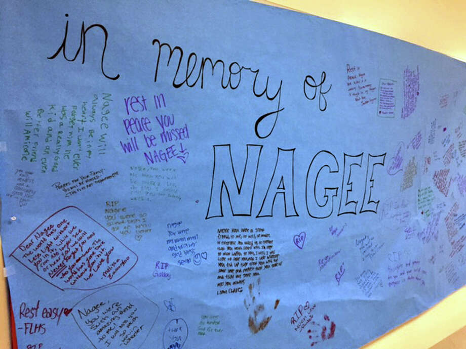 Students and staff at Fairfield Ludlowe High School are gathering messages for the family of Nagee Crowder, who drowned Saturday. Fairfield,CT. 9/19/17 Photo: Contributed, Contributed Photo / Fairfield Citizen