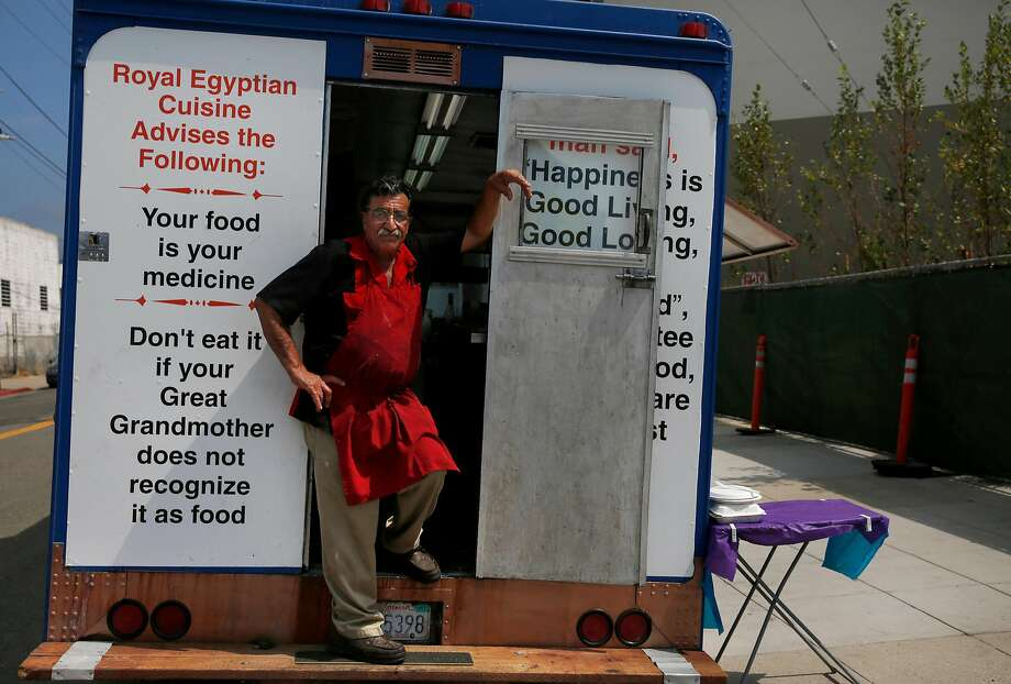 Elmy Kader's Royal Egyptian food truck. Photo: Leah Millis, The Chronicle