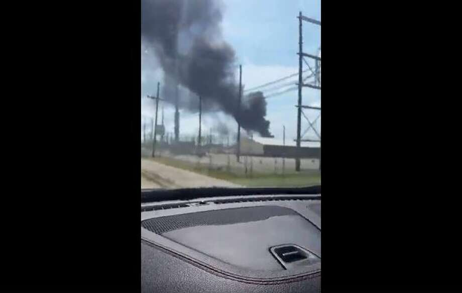 Video posted by the Beaumont Enterprise on Facebook shows Valero Energy Corp.'s Port Arthur refinery on fire on Tuesday, Sept. 19, 2017. Photo: Beaumont Enterprise Via Facebook