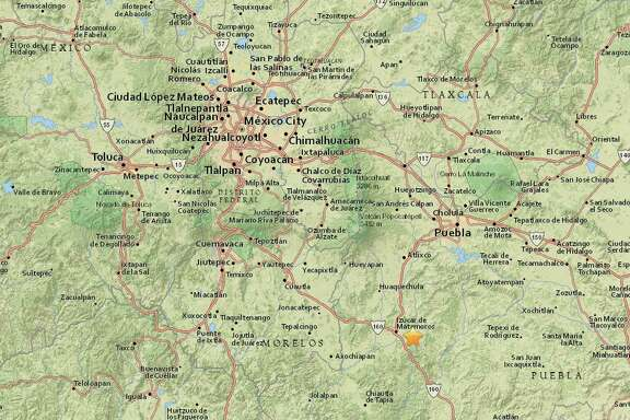 The US Geological Survey says earthquake that hit Mexico was 7.1 magnitude, located in central state of Puebla.