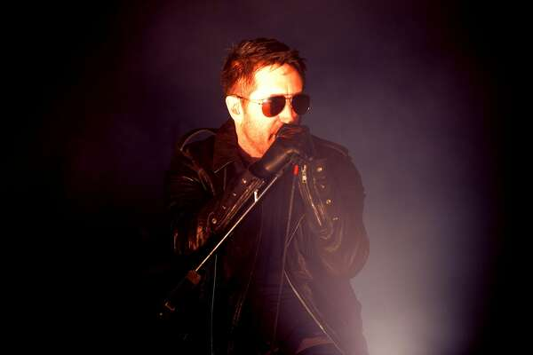 LOS ANGELES, CA - JULY 23:  (EDITORS NOTE: Image has been processed with digital filters)  Singer Trent Reznor of Nine Inch Nails performs onstage during FYF Fest on July 23, 2017 in Los Angeles, California.  (Photo by Scott Dudelson/WireImage)