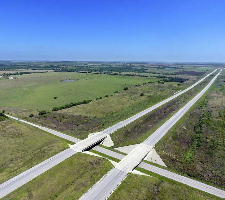 A desolate stretch of Texas 130 between Seguin and Austin is seen Wednesday, Aug. 3, 2016 in an aerial picture made with a remote controlled quadcopter.