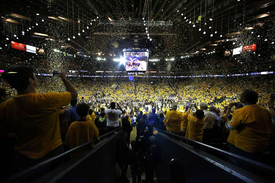 Four months after confetti rained down on the Warriors after their NBA Finals team, an improved team takes court Tuesday for this season's opener. Photo: Carlos Gonzalez