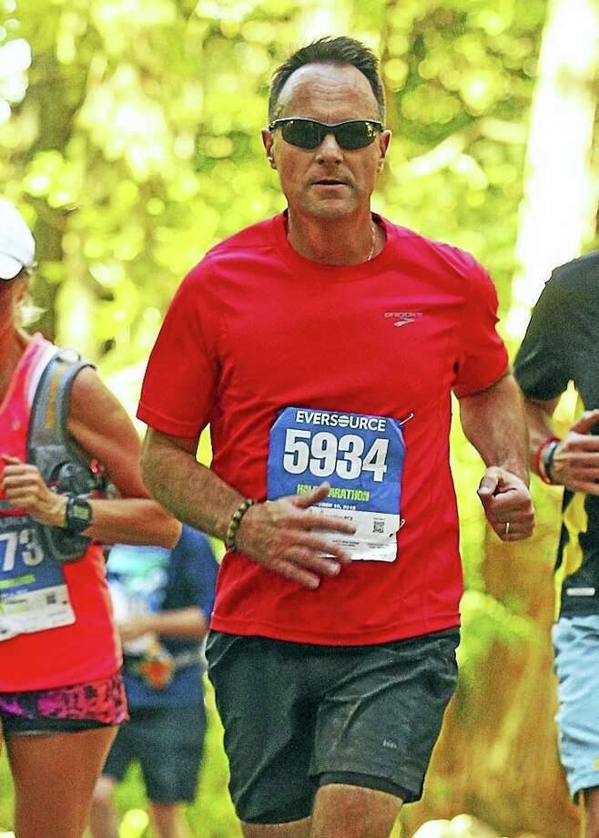 East Hampton Superintendent of Schools Paul K. Smith, 56, is one of 10 members of the Hartford Marathon's exclusive Team Aiello Inspiration Team. Photo: Contributed Photo