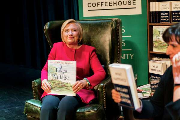 At an event promoting her new book in Washington on Sept. 18, former presidential candidate Hillary Clinton joked that she also ran against Russian President Vladimir Putin in the 2016 election.