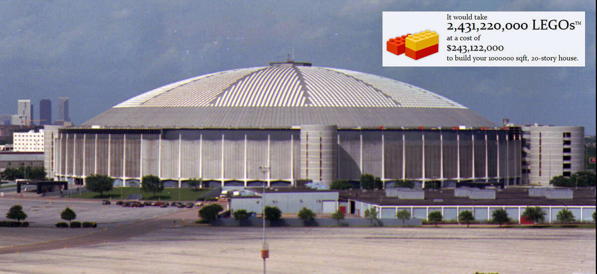 How many LEGO bricks would it take to build these Houston landmarks? A fun online tool has the answer. In the case of Houston's beloved Astrodome, the answer is more than 2.4 million LEGO bricks to recreate the 20-story high, 1 million square foot sports arena. Check out how many bricks it would take to build other Houston landmarks out of LEGO bricks ...