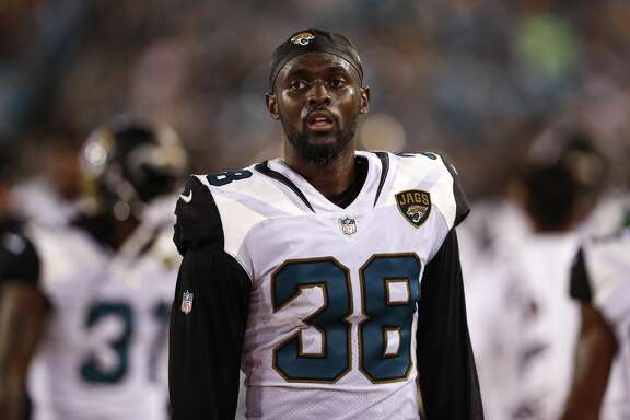 JACKSONVILLE, FL - AUGUST 24: Cornerback Stanley Jean-Baptiste #38 of the Jacksonville Jaguars on the sidelines during the game against the Carolina Panthers at EverBank Field on August 24, 2017 in Jacksonville, Florida. The Panthers defeated the Jaguars 24 to 23. (Photo by Don Juan Moore/Getty Images)