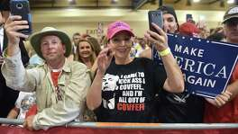 "Supporters cheer as President Donald Trump speaks at a ""Make America Great Again"" rally on Aug. 22 in Phoenix. News reporters did not depict Trump's speeches at this event accurately, says a reader, and none enumerated his many accomplishments."