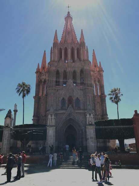 The Parroquia de San Miguel Arcangel is in the center of town on the Jardin. Photo: Dwight Silverman / Houston Chronicle