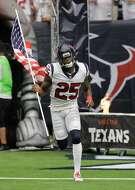 Cornerback Kareem Jackson runs onto the field prior to the Sept. 10, 2017 Houston Texans season opener vs. Jacksonsville.