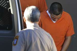 Juan Antonio Villarreal  is led to a van Monday January 23, 2017 at the John Wood Federal Courthouse. He pleaded guilty to conspiracy to launder money.