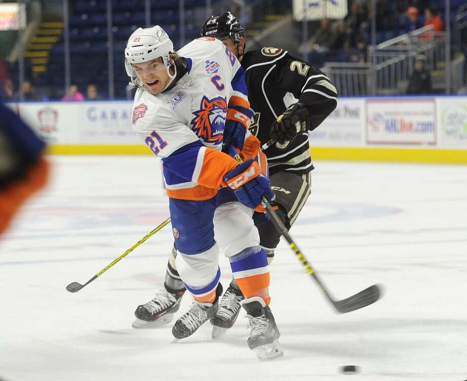 After two seasons as the Bridgeport Sound Tigers captain, Ben Holmstrom is in the Islanders camp on a tryout. Photo: Brian A. Pounds / Hearst Connecticut Media / Connecticut Post