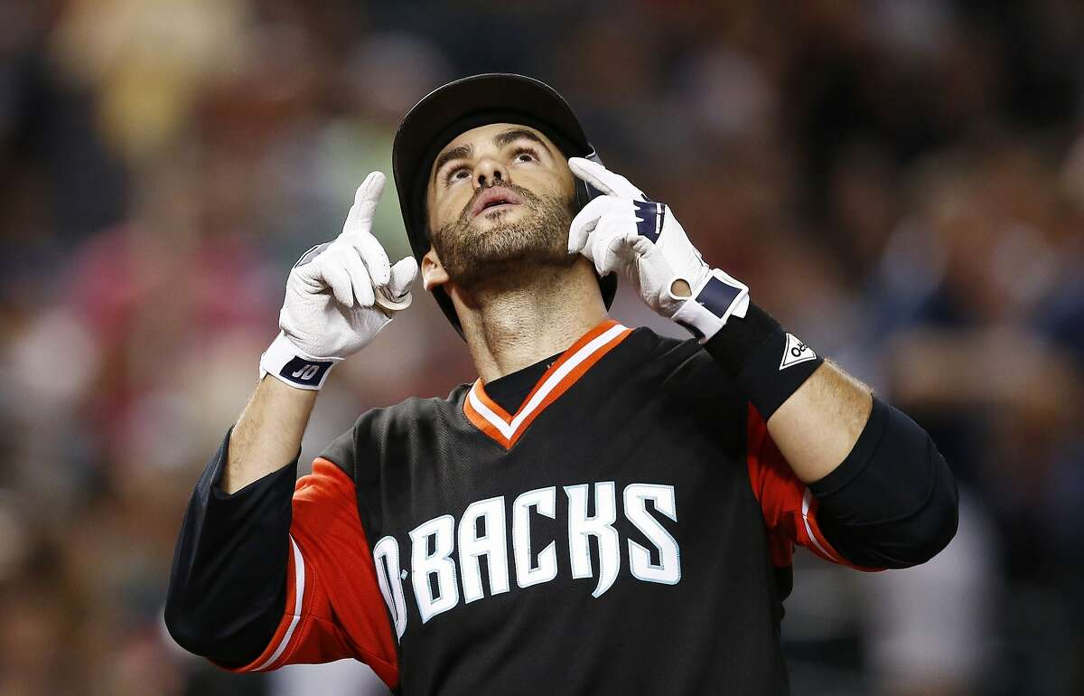 J.D. Martinez, free-agent outfielder: He has said he'd love to return to Arizona, but things can change over the winter. The Giants know they can't come back with Hunter Pence as an everyday right fielder, and that's Martinez's position. Spacious AT&T Park poses a significant obstacle, but they'll take a serious run. (A number of other power-hitting free agents, including Justin Upton, Jay Bruce and Carlos Gonzalez, aren't likely to be interested.)