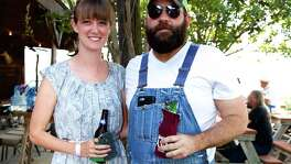 Ashley Whitfield and David Walker hang out at Freiheit Country Store. Photo By: Xelina Flores