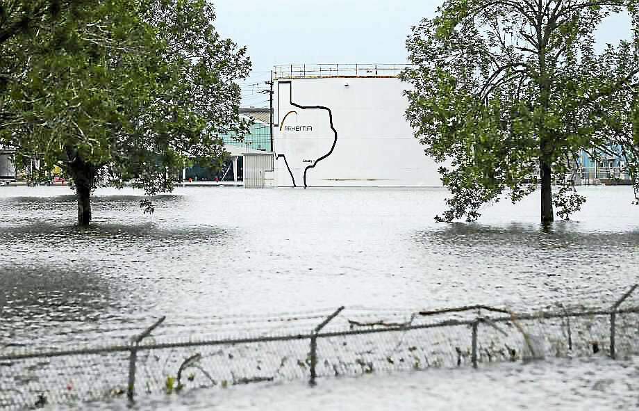 The Arkema chemical plant is flooded from Tropical Storm Harvey Wednesday, Aug. 30, 2017, in Crosby, Texas. Floodwaters from Harvey have knocked out power and generators that keep volatile organic peroxides stored at the facility cool. Employees and about 300 homes within a mile and half radius of the plant were evacuated Tuesday. Photo: Photo: Godofredo A. Vasquez / Houston Chronicle