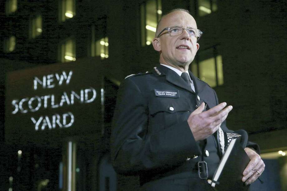 "Assistant Police Commissioner, Mark Rowley, delivers a statement outside New Scotland Yard, London, Friday Sept. 15, 2017, after a homemade bomb planted in a rush-hour subway car exploded in London on Friday, injuring 29 people and prompting authorities to raise Britain's terrorism threat level to ""critical,"" meaning another attack may be imminent. Photo: Tim Ireland/PA Via AP   / PA"
