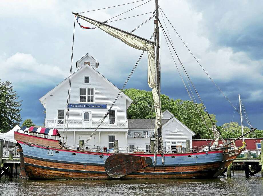 The historic replica vessel Onrust is docked at the Connecticut River Museum through mid October for public cruises and programs. On Sept. 9, a fundraiser to support the educational mission of the ship will be held at the museum. Photo: Photo By Judy Preston