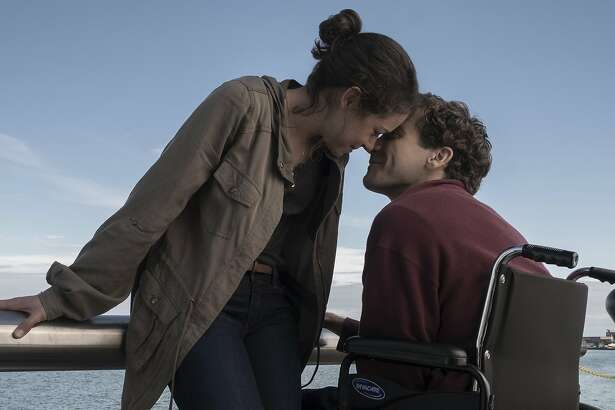 "This image released by Roadside Attractions shows Tatiana Maslany, left, and Jake Gyllenhaal in a scene from ""Stronger.""  The film, which chronicles the story of Boston Marathon bombing survivor Jeff Bauman, will screen at the Spaulding Rehabilitation Hospital in Charlestown on Sept. 12, where Bauman and others who were injured in the 2013 deadly attack were treated. (Scott Garfield/Lionsgate and Roadside Attractions via AP)"