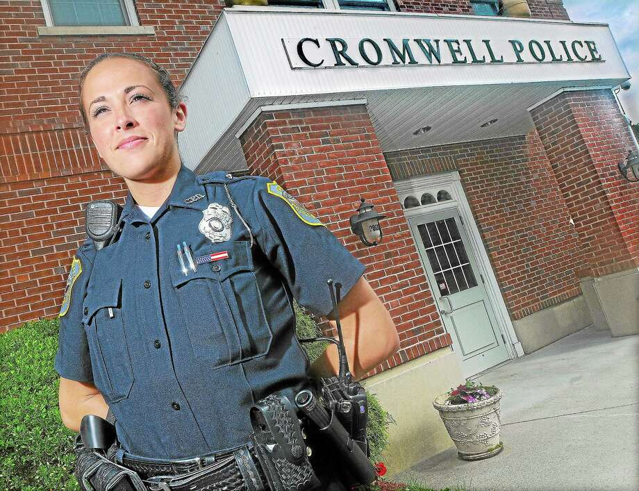 Cromwell Police Department officer Sarah Alicea seen here in 2013. Photo: Middletown Press File Photo  / TheMiddletownPress