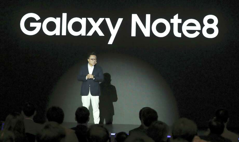 Koh Dong-jin, president of mobile business at Samsung Electronics, speaks during a media day for Galaxy Note 8 in Seoul, South Korea on Sept. 12, 2017. Samsung Electronics says its aims to launch a foldable smartphone next year under its Galaxy Note brand. Photo: AP Photo — Lee Jin-man  / Copyright 2017 The Associated Press. All rights reserved.