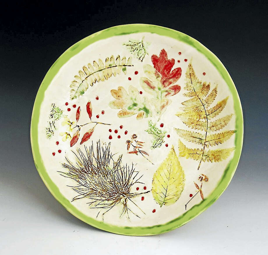 Contributed photoA botanical bowl is included in the new show at Wesleyan Potters. Photo: Digital First Media