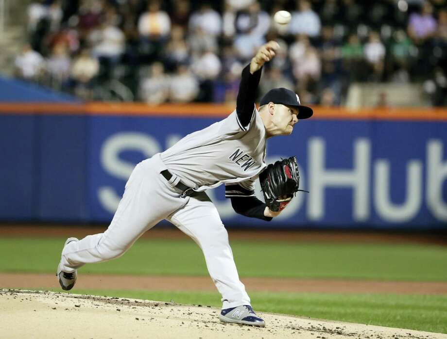 New York Yankees' Sonny Gray delivers a pitch during the first inning against the Tampa Bay Rays. Gray received little run support again as the Yankees fell 2-1 Tuesday night at Citi Field. Photo: FRANK FRANKLIN II — THE ASSOCIATED PRESS  / Copyright 2017 The Associated Press. All rights reserved.