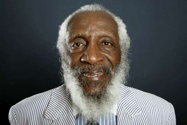In this July 21, 2012, file photo, comedian and activist Dick Gregory poses for a portrait during the PBS TCA Press Tour in Beverly Hills, Calif.