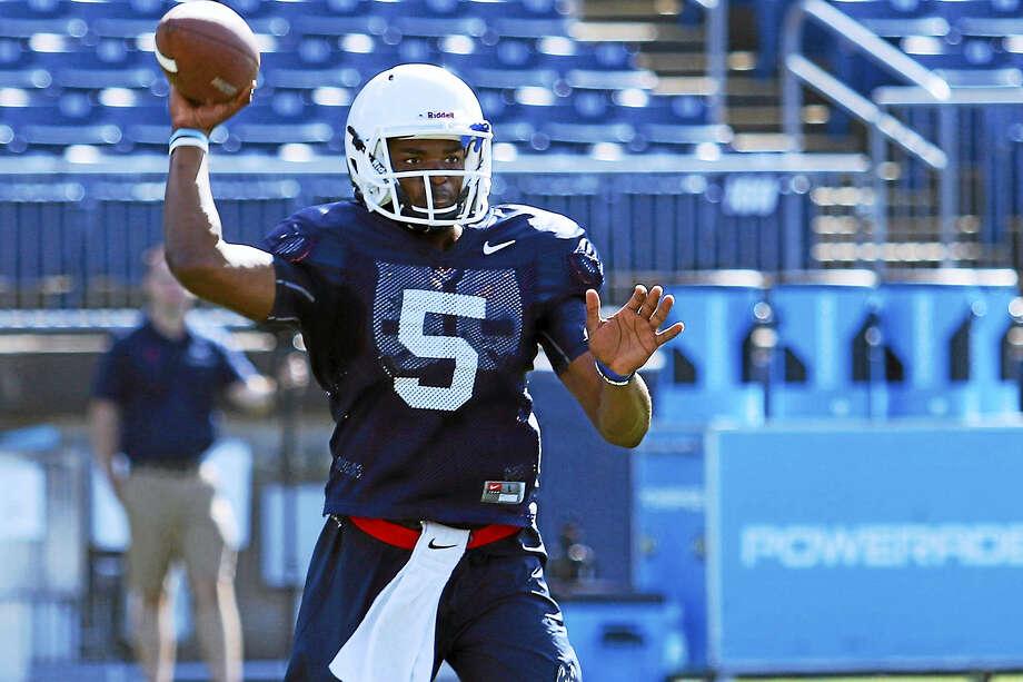UConn quarterback David Pindell. Photo: Ian Bethune/The UConn Blog  / Ian Bethune