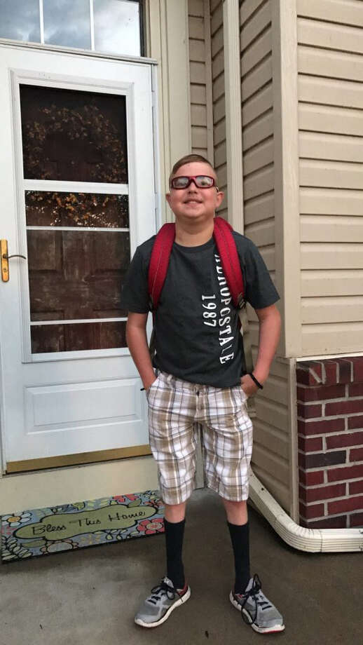 Thirteen-year-old Peyton West died Thursday, his first day back to school after a heart transplant five months ago. (Photo courtesy of Corey West.) Photo: Handout / The Washington Post