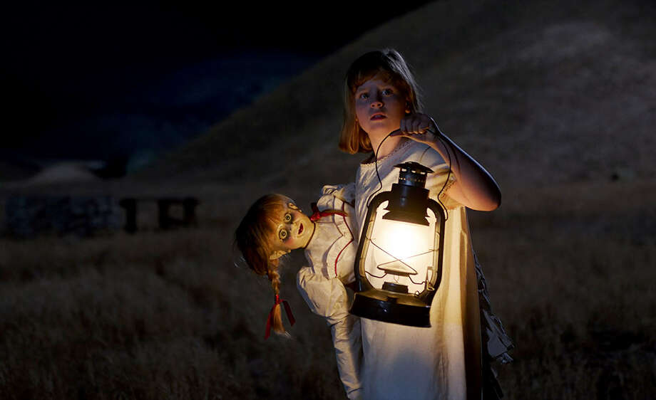 "Lulu Wilson as Linda in ""Annabelle: Creation."" (Photo credit: Warrner Bros. Pictures) Photo: Warner Bros. Pictures / © 2017 Warner Bros. Entertainment Inc. and RatPac-Dune Entertainment LLC"