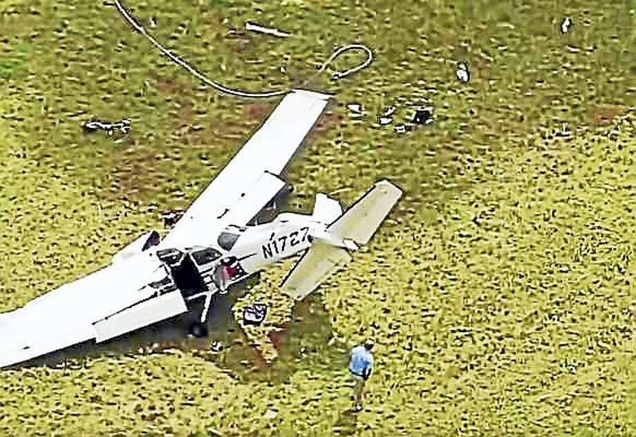 Scene of plane crash Photo: Courtesy Of NBC Connecticut