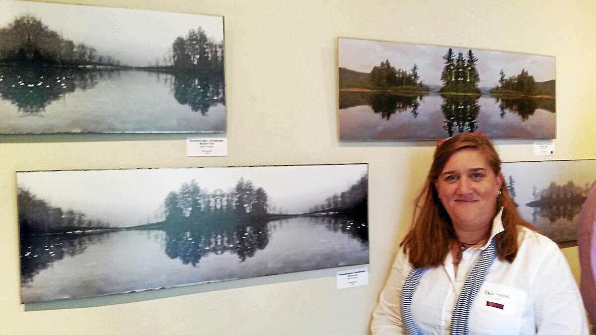 """Photographer Babs Perkins exhibited her series of photographs """"Soundscapes: Incidental Music Six"""" at The Gallery at the Sharon Historical Society & Museum at 18 Main St. in Sharon."""