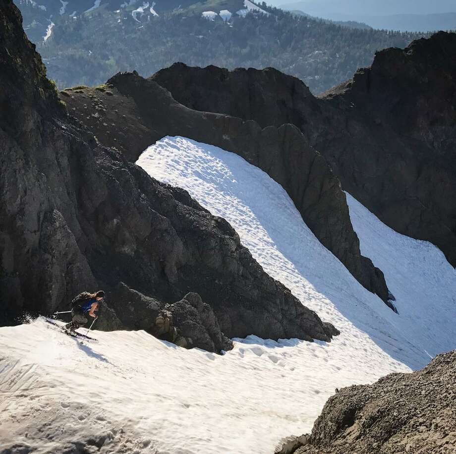 Skiing conditions in the Carson-Iceberg Wilderness off Highway 4, near Bear Valley, Calif., July 24, 2017. Photo: Brennan Lagasse/Instagram (@stateofthebackcountry)