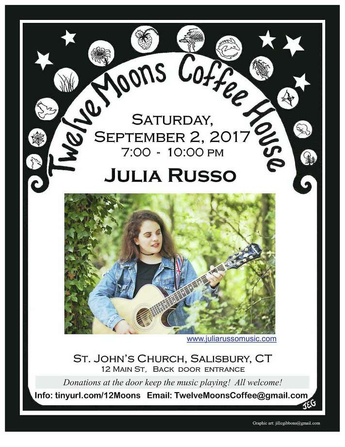 Folk singer Julia Russo is Saturday's featured performer at Twelve Moons Coffee House in Salisbury. Photo: Contributed Photo