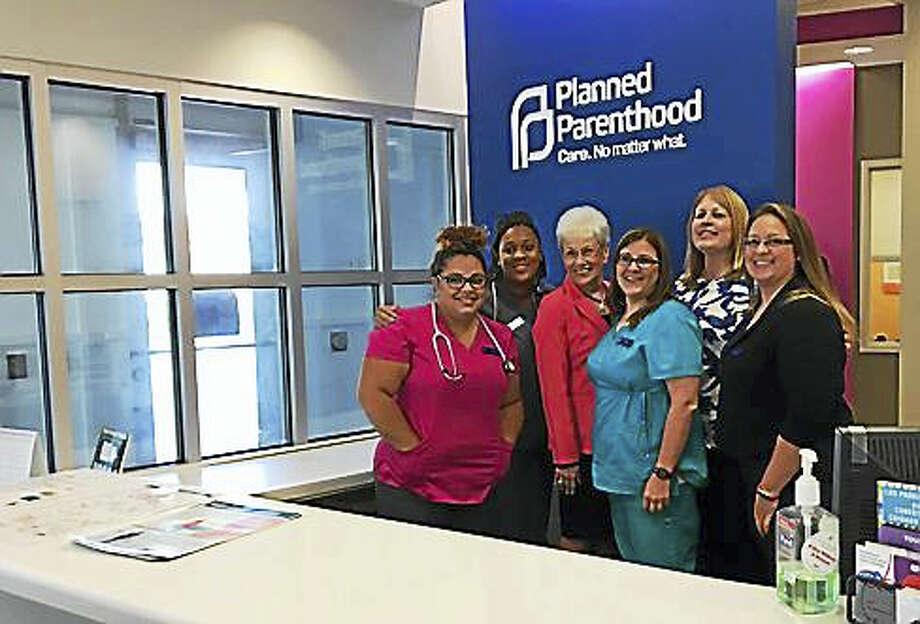 Lt. Gov. Nancy Wyman with the staff of Planned Parenthood in Enfield Photo: Christine Stuart / Ctnewsjunkie
