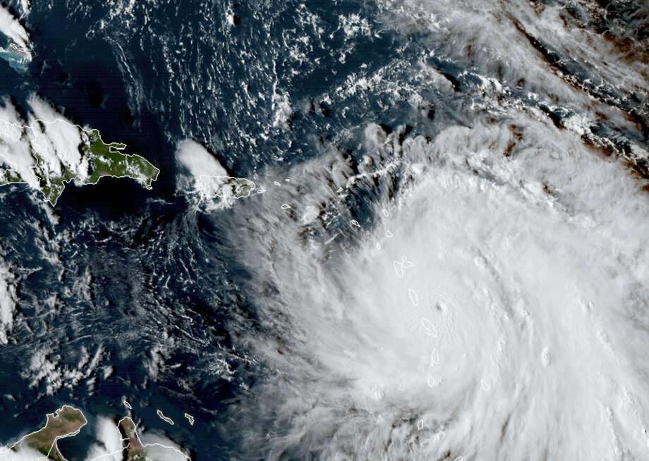 This Monday, Sept. 18, 2017, GOES East satellite image provided by NASA taken at 20:30 UTC, shows the eye of Hurricane Maria as it nears Dominica. The National Hurricane Center in Miami said Monday evening that Air Force Reserve hurricane hunter planes found that Maria had strengthened into a storm with 160 mph (260 kph) winds. Photo: NASA Via AP  / NASA